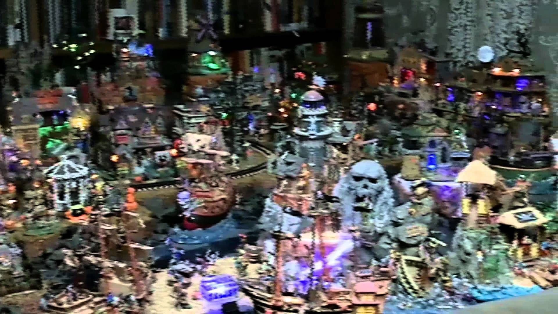 Crazy Halloween Village Display posted on by