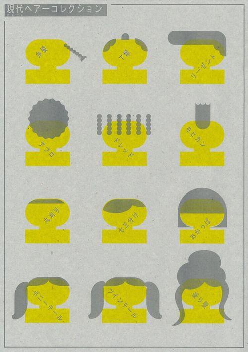 Japanese Poster: Modern Hair Collection. Tadashi Ueda. 2012 - Gurafiku: Japanese Graphic Design