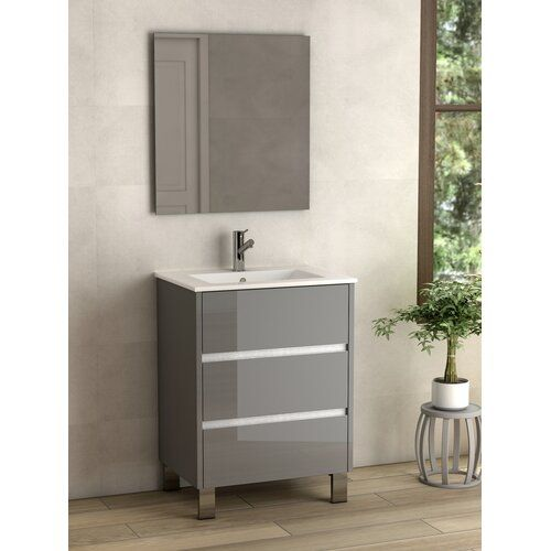 Ebern Designs Meansville 60cm Free Standing Vanity Unit