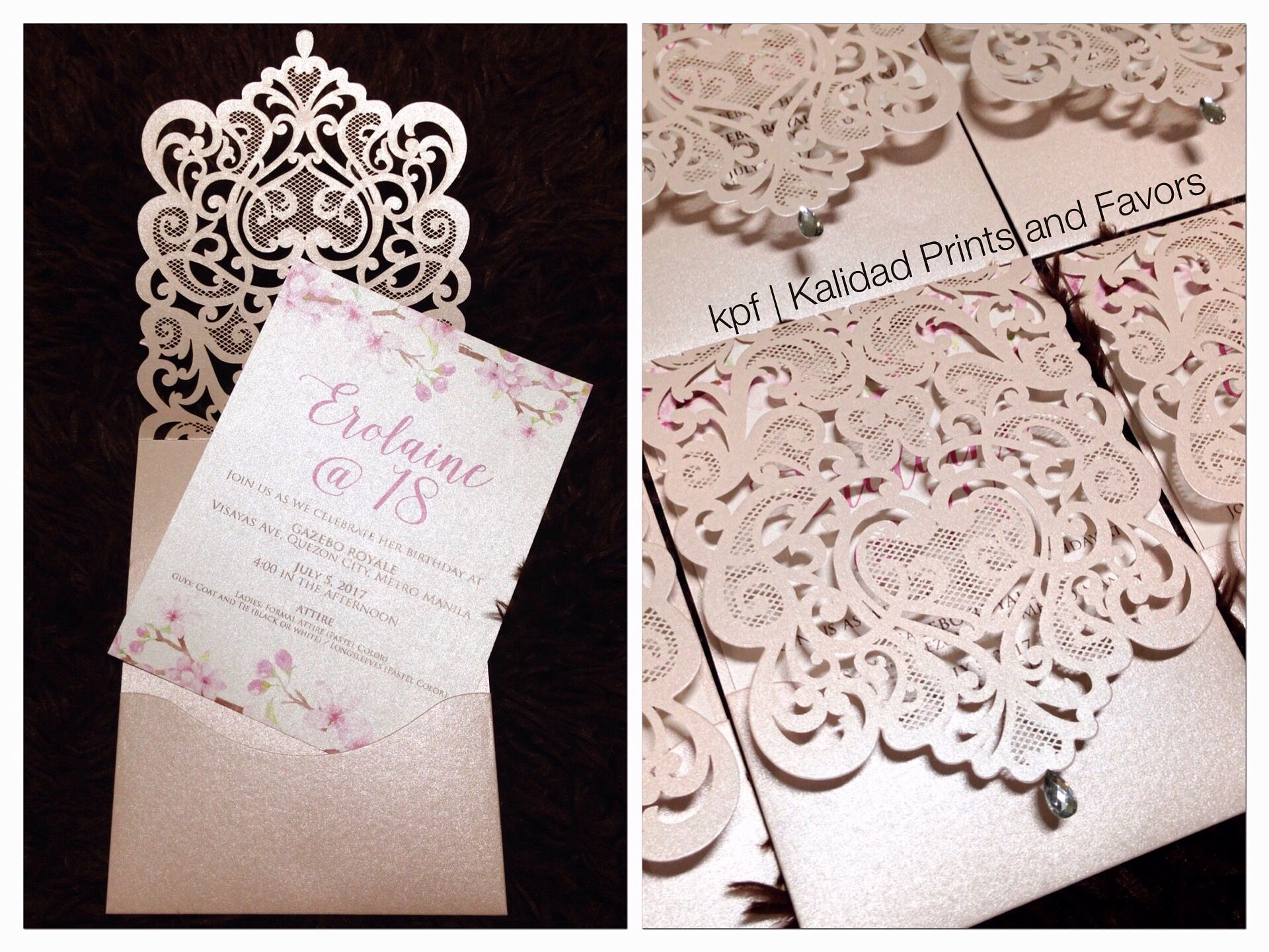 Laser cut debut invitation cherryblossominvitation lasercut laser cut debut invitation cherryblossominvitation lasercut lasercutinvitations debutinvitation birthdayinvitation cherryblossomthemedinvitation stopboris