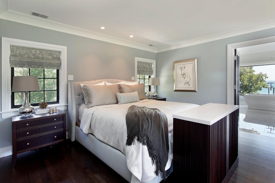 #schlafzimmer, #grau Grün Blau, #tapete, #extravagant,