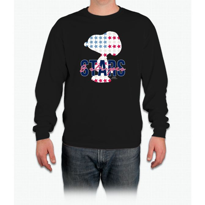 Snoopy - Stars And Stripes Long Sleeve T-Shirt