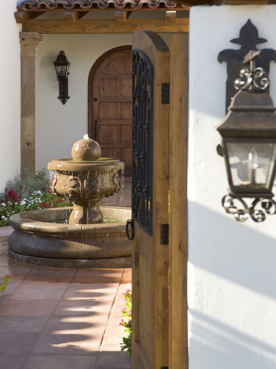 Spanish Courtyards Homes Design Pictures Remodel Decor