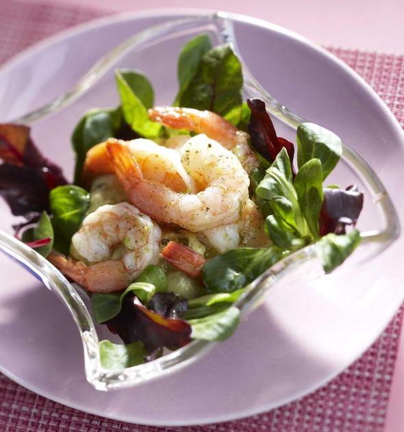 Shrimp salad with vanilla - Vaniljainen rapusalaatti, resepti – Ruoka.fi