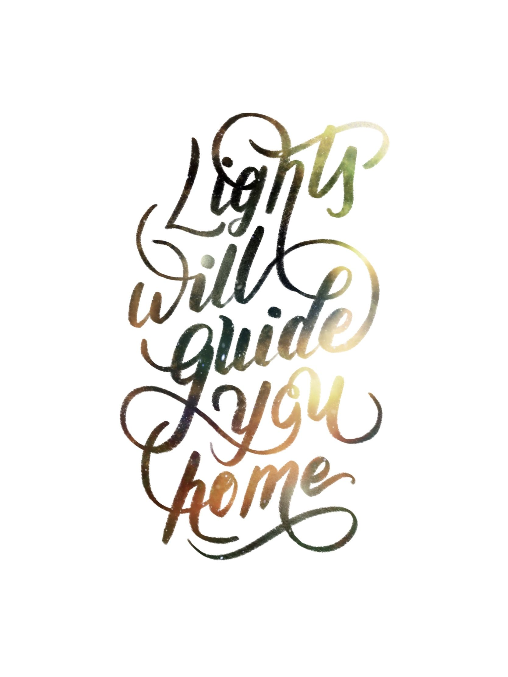 Lights will guide you home, Inspired by https://dribbble.com/Jennet ...