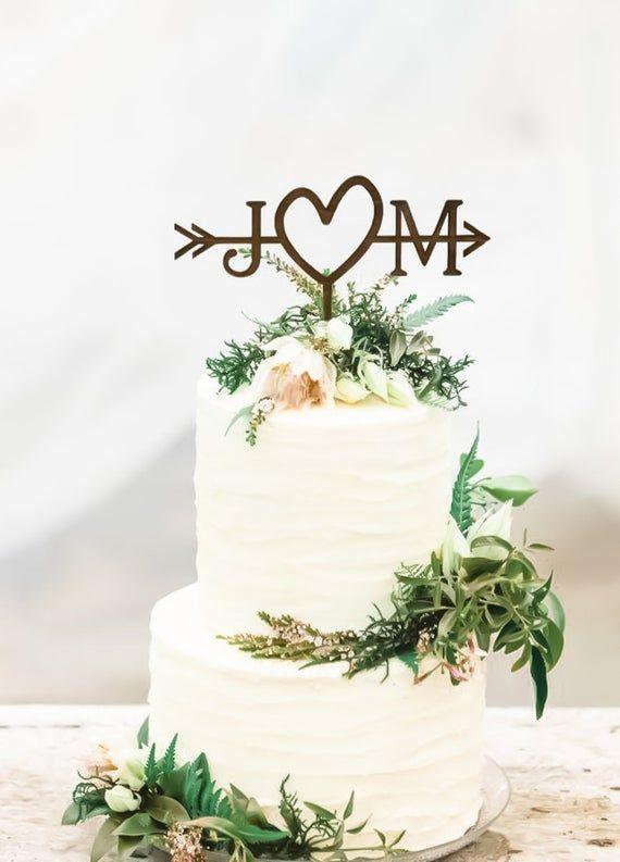 Rustic Wedding Arrow Cake Topper  Custom Cake Topper  Beach | Etsy