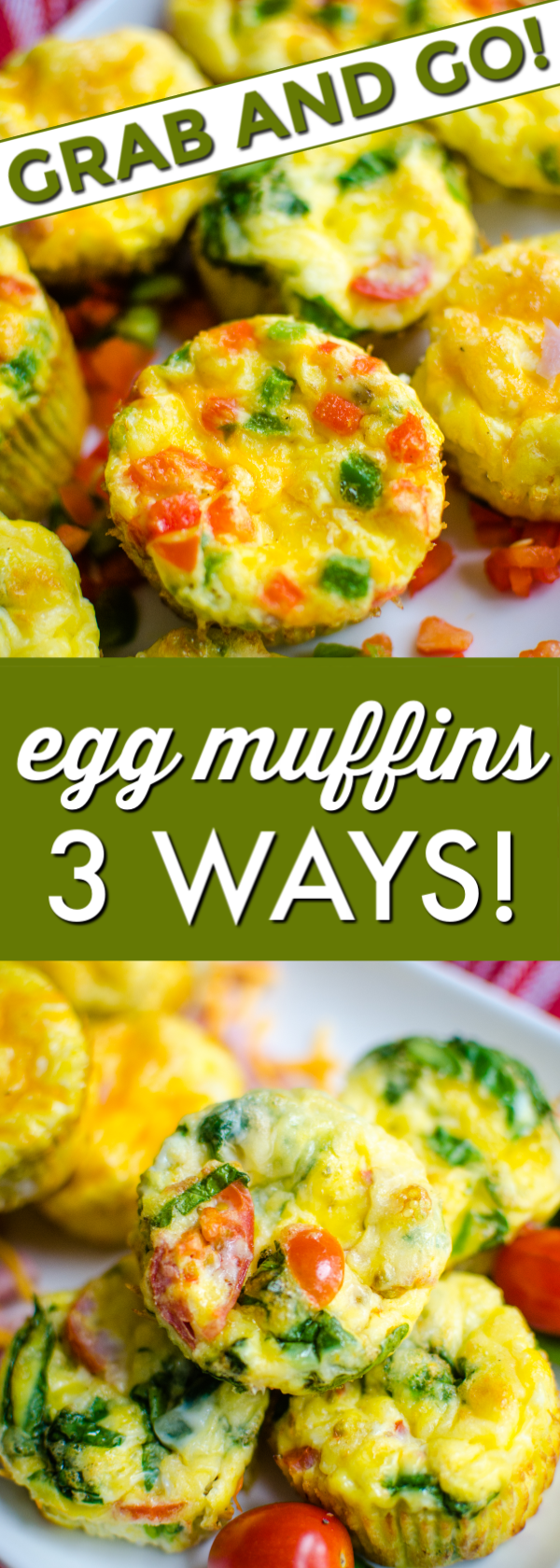 Theseegg muffinsare perfect for a grab-and-go breakfast!Egg Muffinsare a delicious and tasty breakfast, naturally low carb and easy to make ahead of time. #eggmuffins