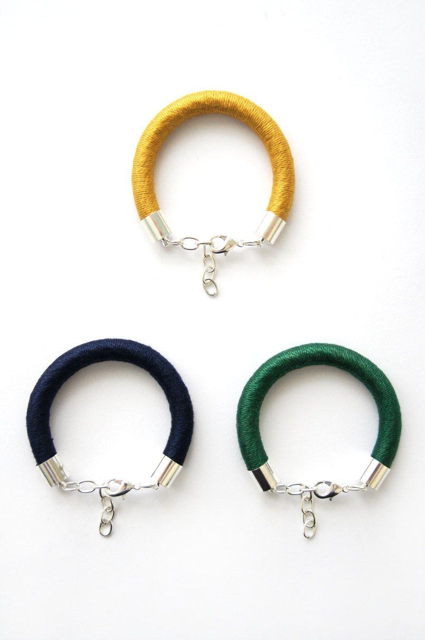 Chunky Cord Bracelets via Etsy.