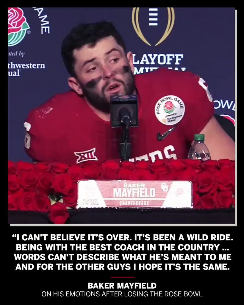 Baker Mayfield One Of The Greatest Players Ou Has Ever Seen He Will Be Missed Ou Football Oklahoma Football Sooners