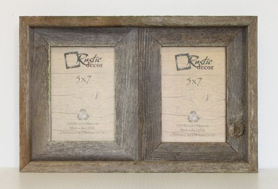 5x7 2 wide Rustic Barn Wood Double Opening by RusticDecorFrames ...