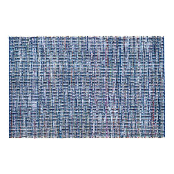 Blue And White Striped Rug 8x10.Jani Alita Upcycled Blue Multi Cotton Rug 8 X 10