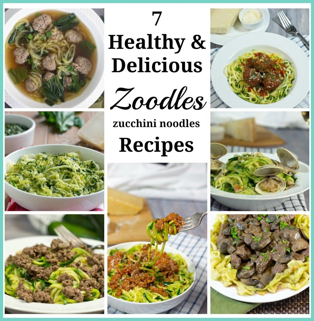 The best Zoodles recipes | Low Carb | Whole 30 | Paleo recipes | gluten free recipes | spiralizer recipes | zucchini