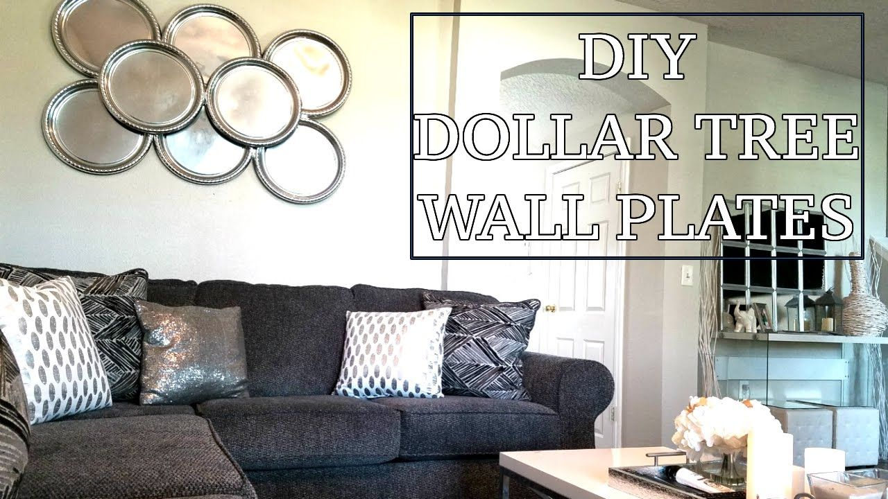 Dollar Tree Diy Wall Plates Diy Home Decor Design On A Dime Faux Mirror Diy Living Room Decor Dollar Tree Diy Plates On Wall