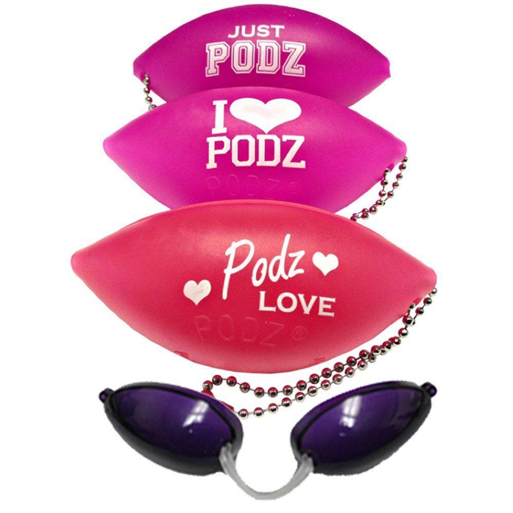 Soft Podz Goggles Tanning Bed Keychain Eyewear Random Pink