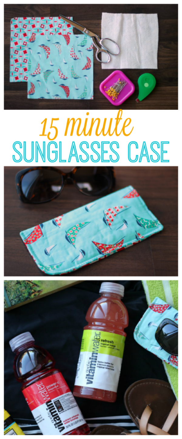15-Minute Sunglasses Case Sewing Tutorial #scrapfabric