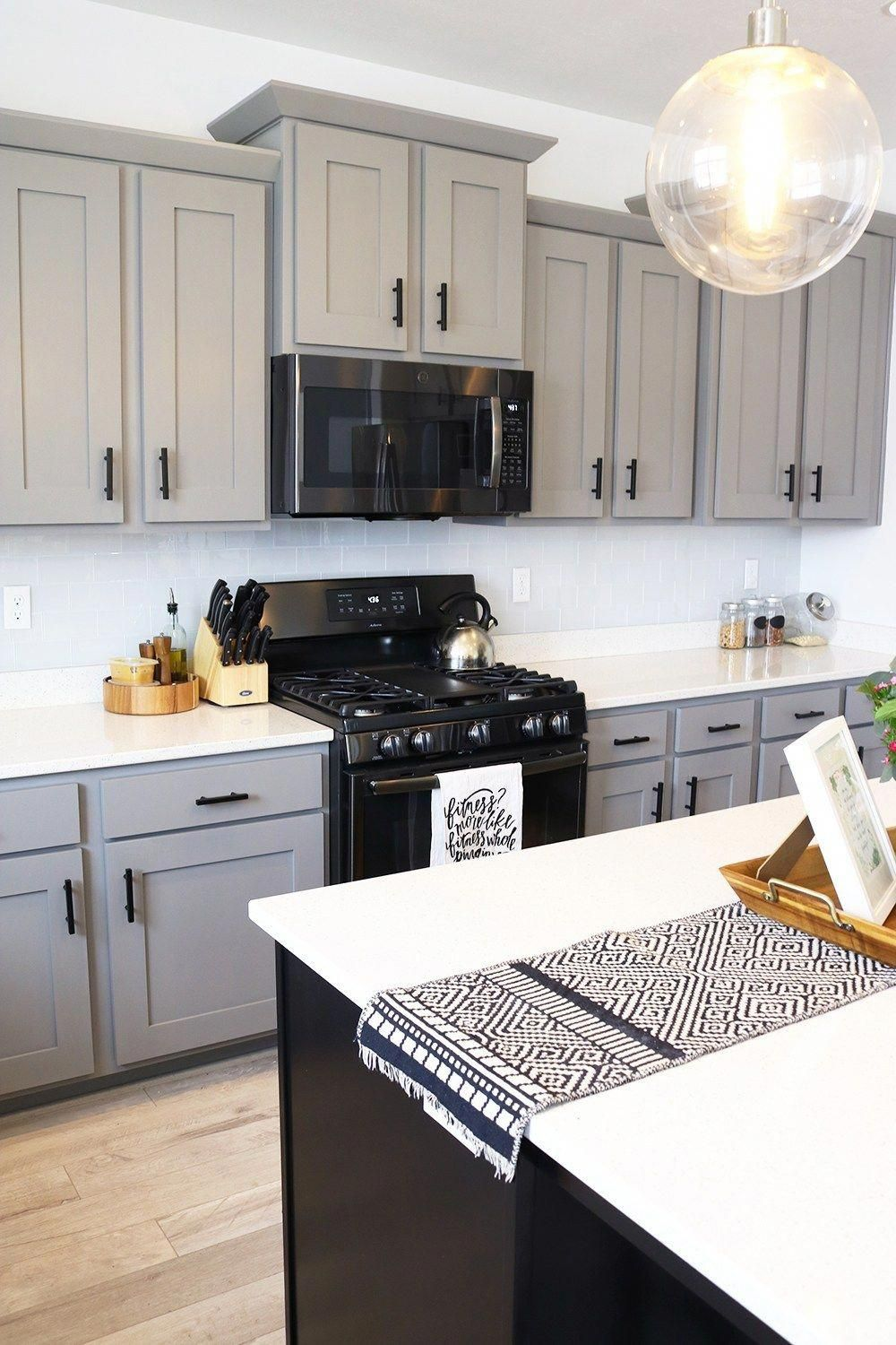 View Grey Kitchen Cabinets With Black Stainless Steel ...