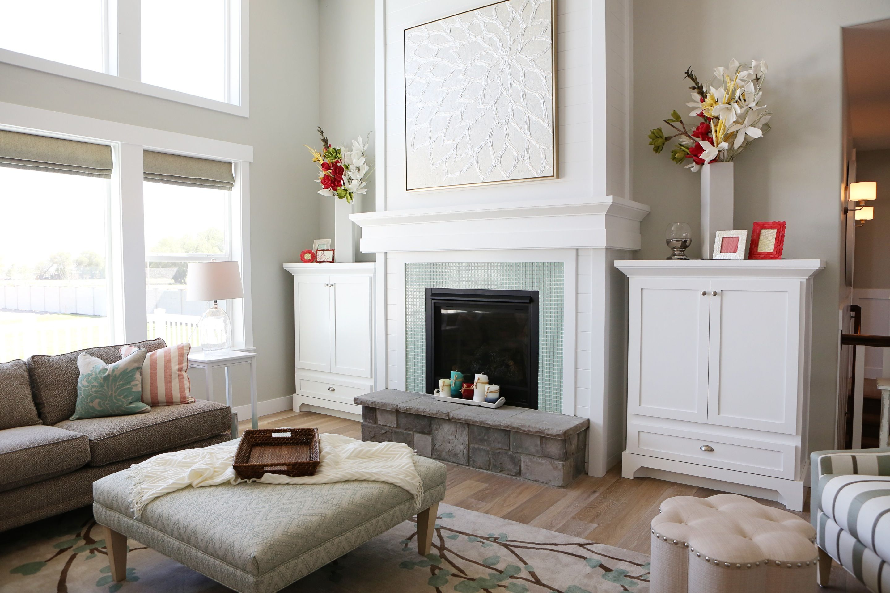 Living room designed by Lindy Allen of Four Chairs Furniture. www.4 ...