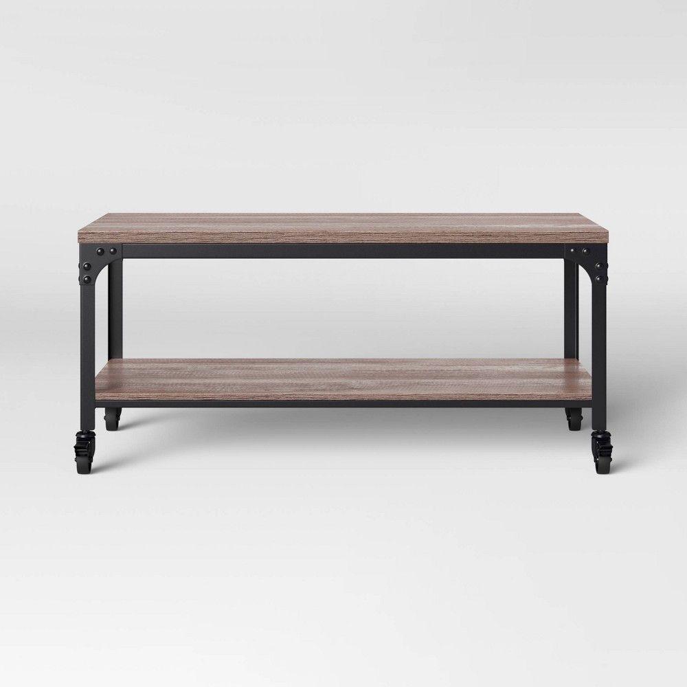 Jackman Industrial Wood Coffee Table Brown Threshold Coffee Table Wood Coffee Table Industrial Wood [ 1000 x 1000 Pixel ]
