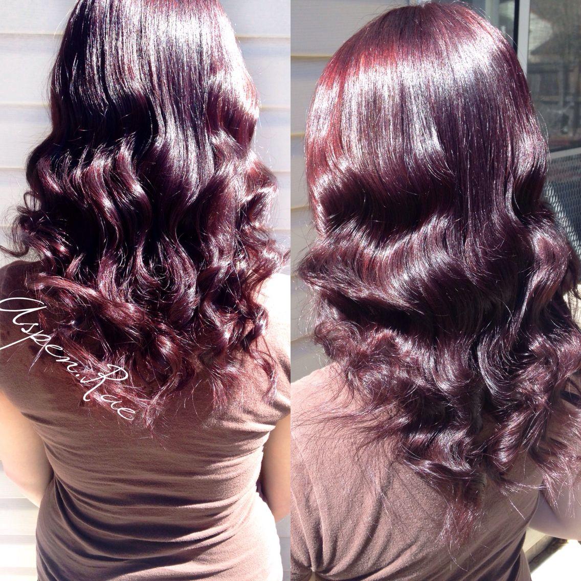 Merlot hair color - Merlot Burgundy Hair Color Redken Chromatics 4vr Aspen Rae