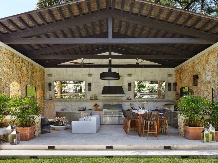 ▷ 1001 + designs splendides d\u0027une cuisine extérieure - photo cuisine exterieure jardin