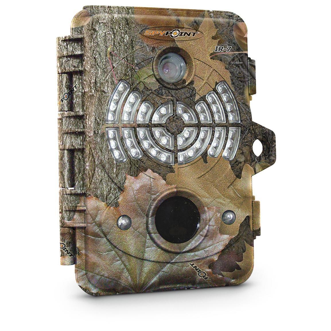 SpyPoint™ IR 7 Infrared Game Camera tracks trophy racks