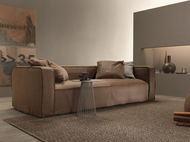 Leather sofa with removable cover Softly Collection by MY home
