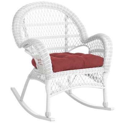Our All Weather Rocker Has Been Woven By Hand Of Synthetic Rattan