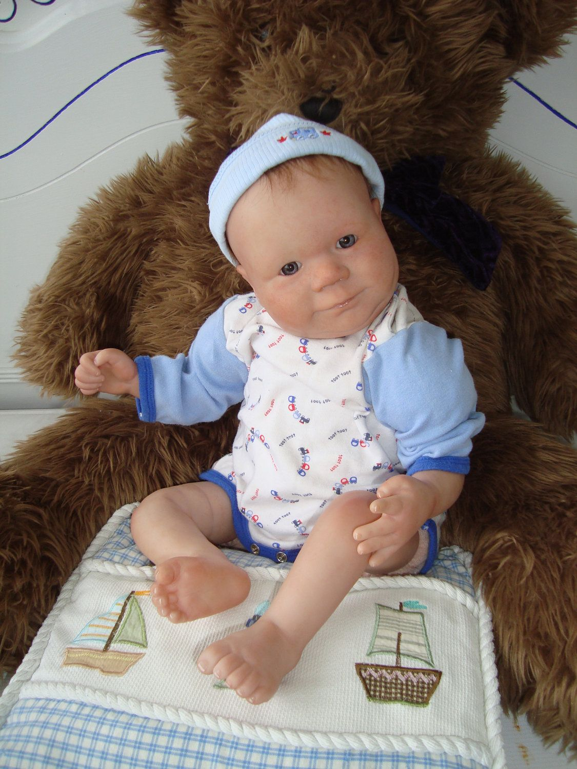 Reborn Baby Doll Christian Weighted girl or boy by tracywhaley08. $260.00 USD, via Etsy.