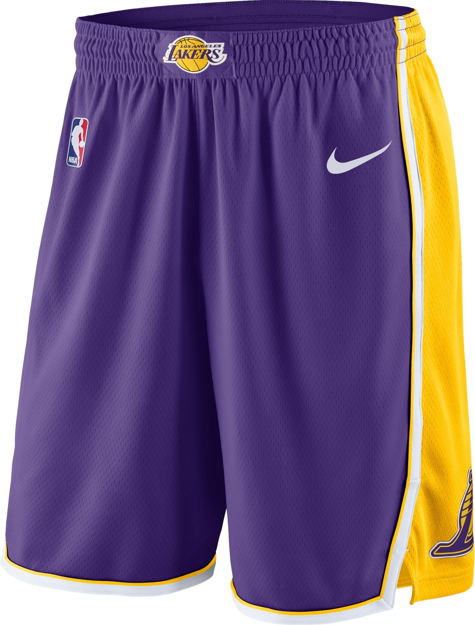 88a3fb3f Nike Men's Los Angeles Lakers Dri-FIT Purple Swingman Shorts, Size: Medium,  Team