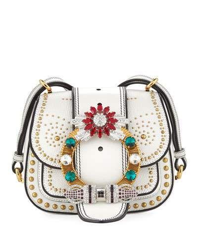 Miu Miu Embellished Lady Saddle Bag   Shop the look products ... 321b706075