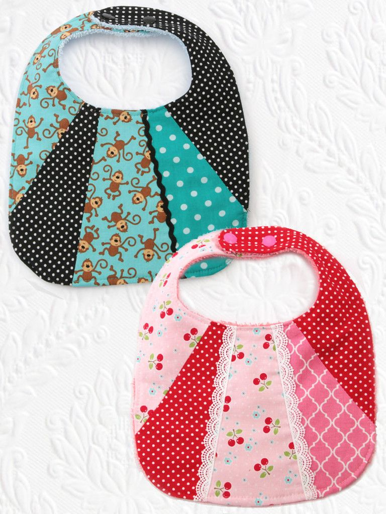 Bib3 Patchwork Baby Bib Pattern Set Of 2 Baby Bibs