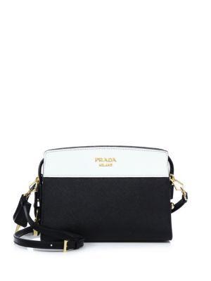 48c4c32780c79 PRADA Mini Esplanade Leather Crossbody Bag. #prada #bags #shoulder bags # leather #crossbody #lining #