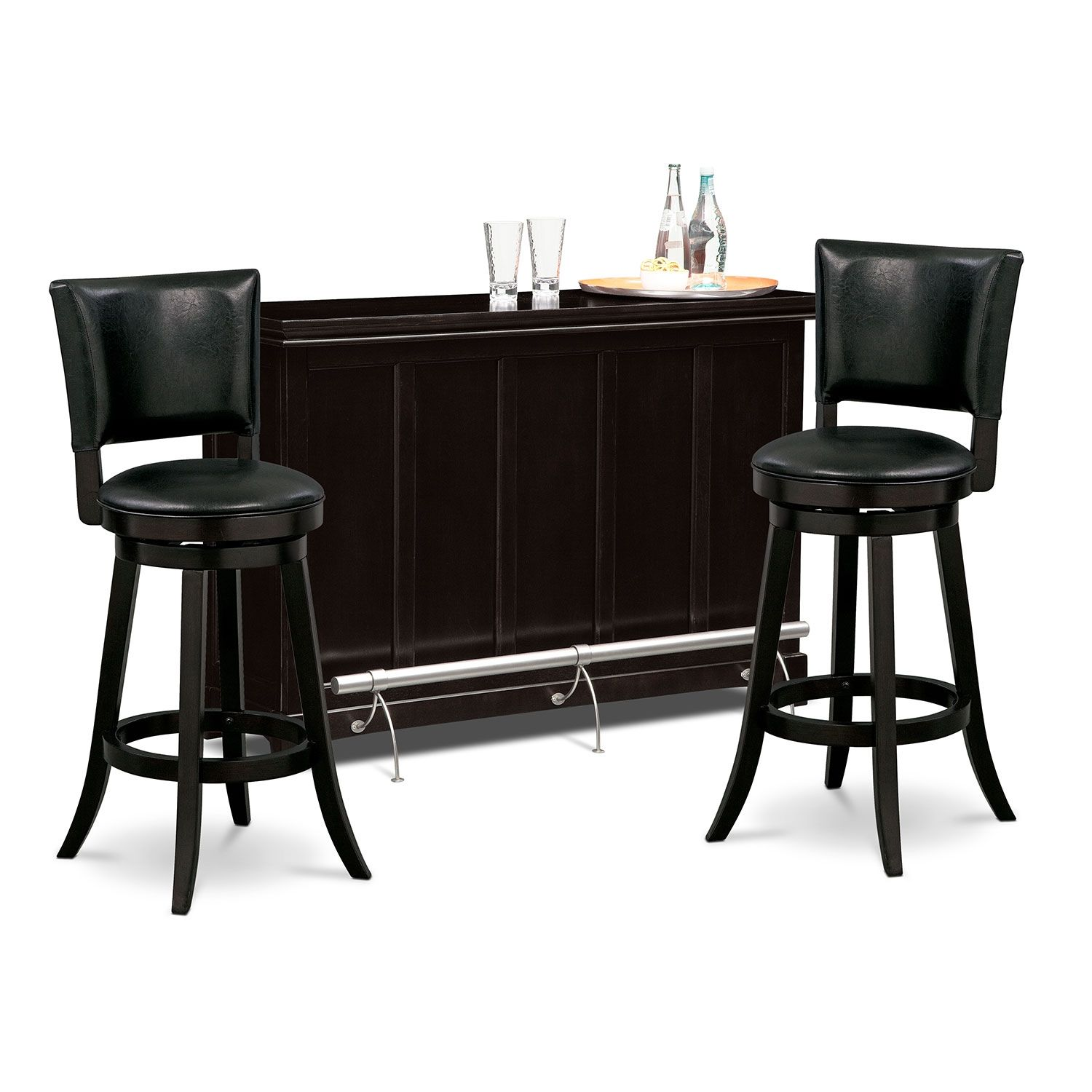 Accent And Occasional Furniture  Carlton Ii Easton 3 Pcbar Set New Value City Kitchen Sets Design Decoration