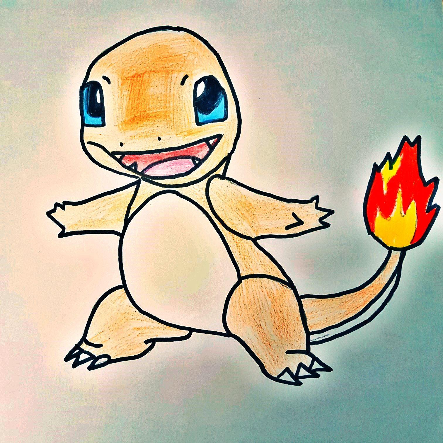 Anleitung Zum Zeichnen Von Dem Pokemon Glumanda Diy Art