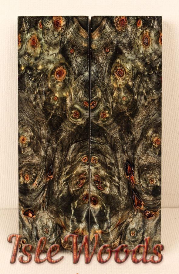 Top Shelf Stabilized Buckeye Burl Exotic Wood Knife Scales