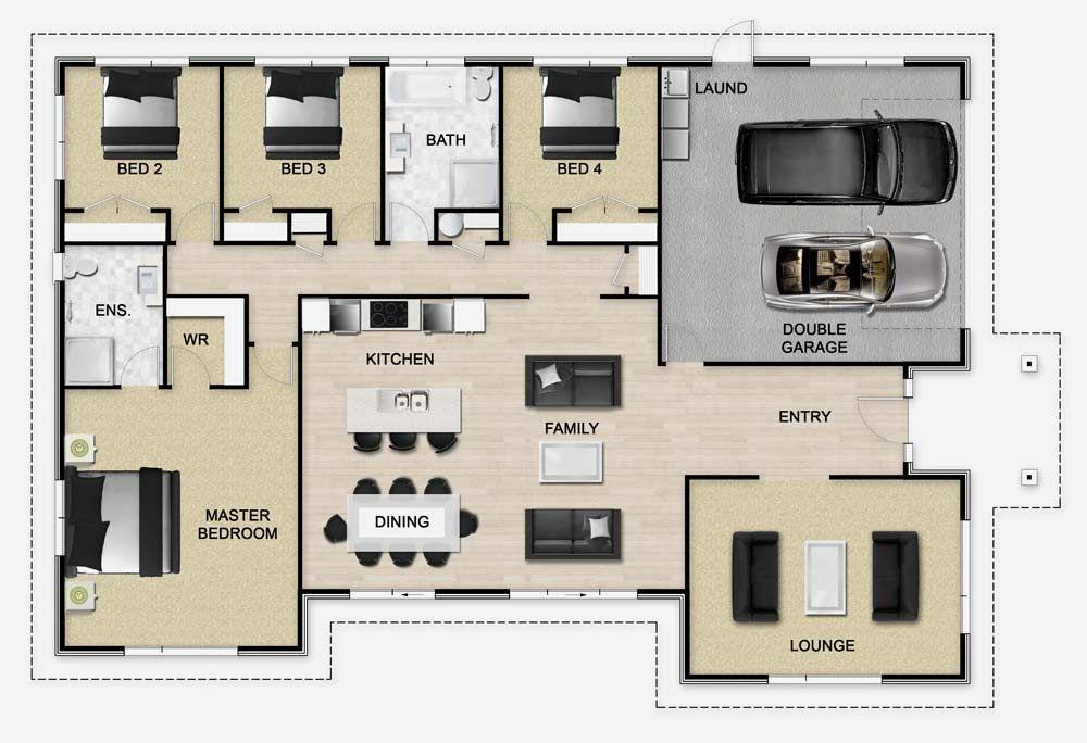 Golden Homes Plan: Impreza | New Zealand floor plans | Pinterest ...