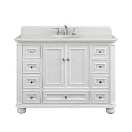 Shop scott living wrightsville 48-in white single sink ...