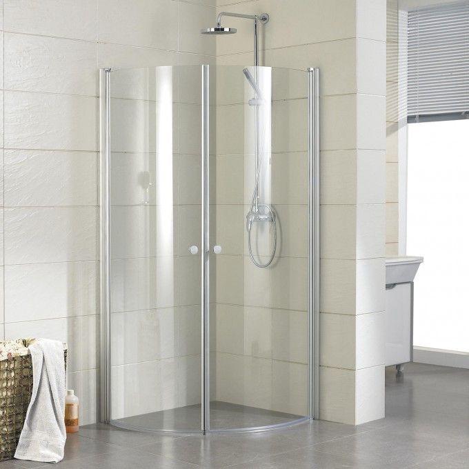 34 X 34 Halvor Round Corner Shower Enclosure Corner Shower Stalls Corner Shower Enclosures Corner Shower