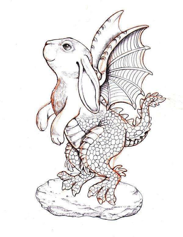 Rabbit dragon by remigiaidos on deviantart dragons black white rabbit dragon thecheapjerseys Gallery