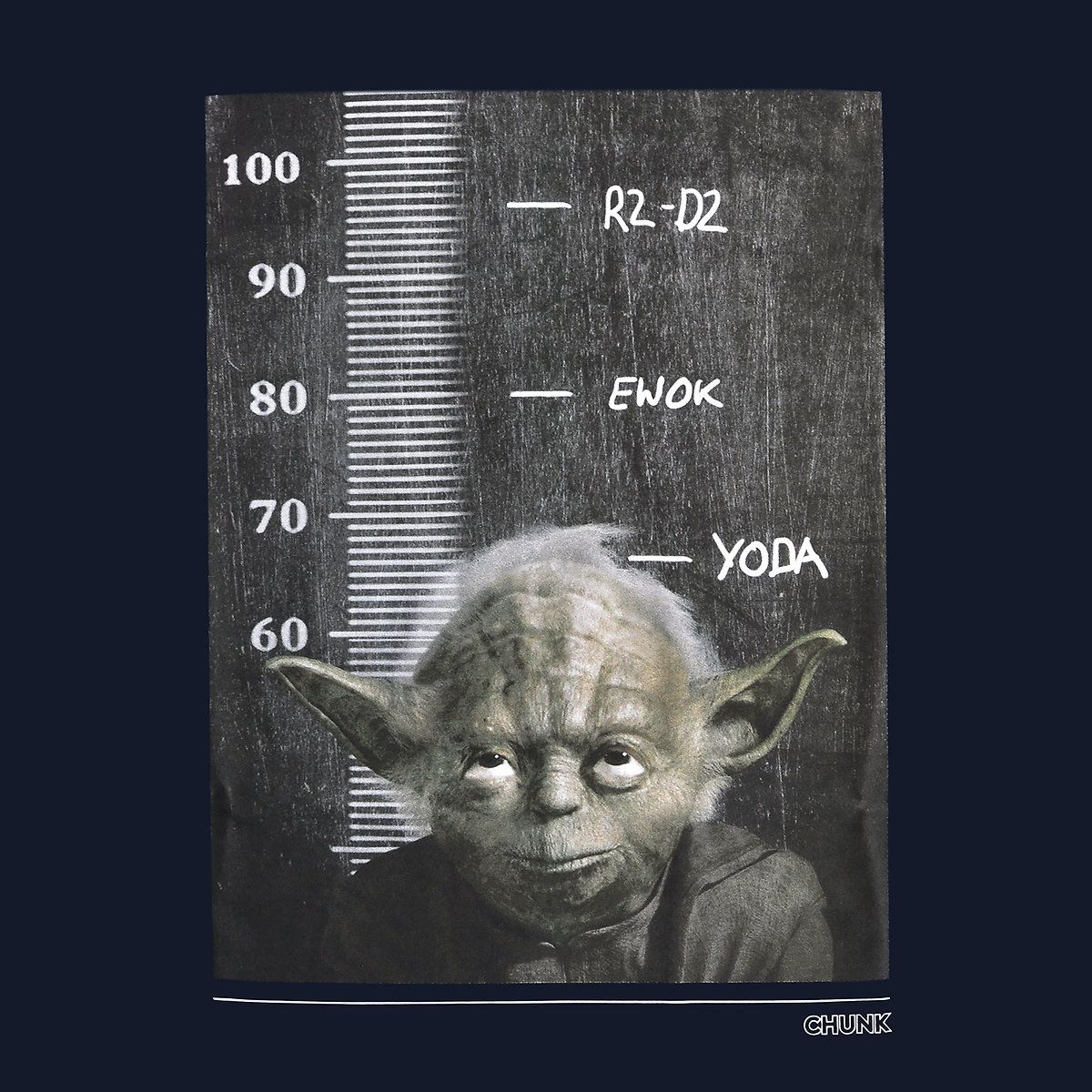 Star Wars - Jedi Height Chart T-Shirt navy