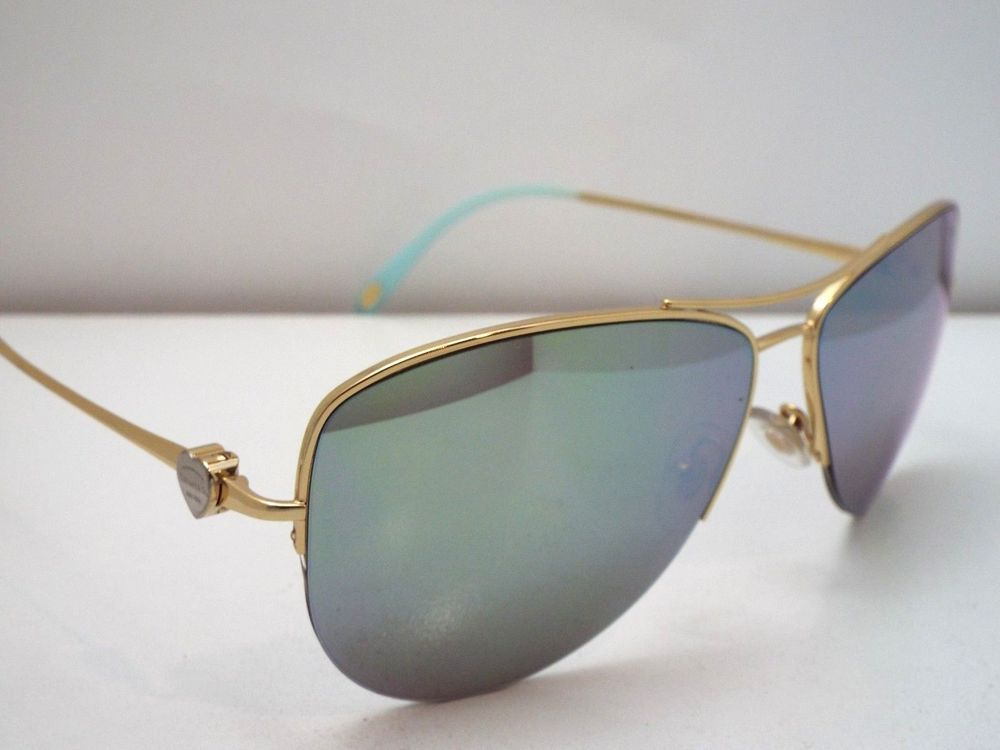 cbcdef42d2ac Authentic TIFFANY   CO. TF3021 6002 64 Gold Blue Silver Mirror Sunglasses   365  fashion  clothing  shoes  accessories  unisexclothingshoesaccs ...