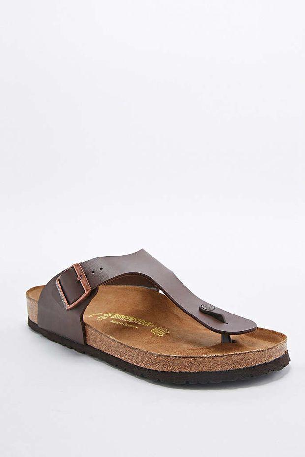 691e9dad971a0 Birkenstock Ramses Birko-Flor Sandals in Dark Brown - Urban Outfitters