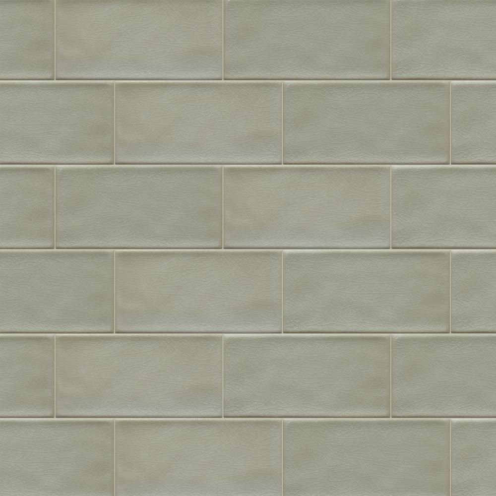 Daltile Structured Effects Crackled Pebble 3 In X 6 In Glazed Ceramic Wall Tile Se2236modahd1p2 The Home Depot Ceramic Wall Tiles Glazed Ceramic Wall Tiles