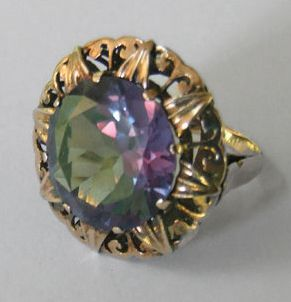 f6b6a8cf03aa3 14.5 Ct Russian Alexandrite Ring, 24kt Yellow Gold, Sold for ...