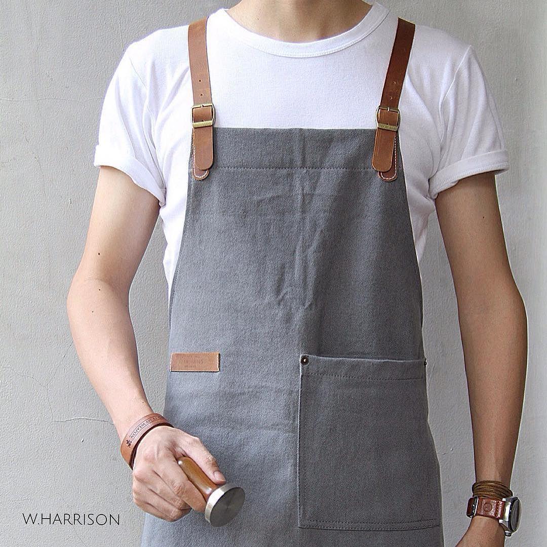 White apron cafe -  Dealorwils Wearemadeofstories Handcrafted Artisan Apron Barista Coffeeenthusiast Baker
