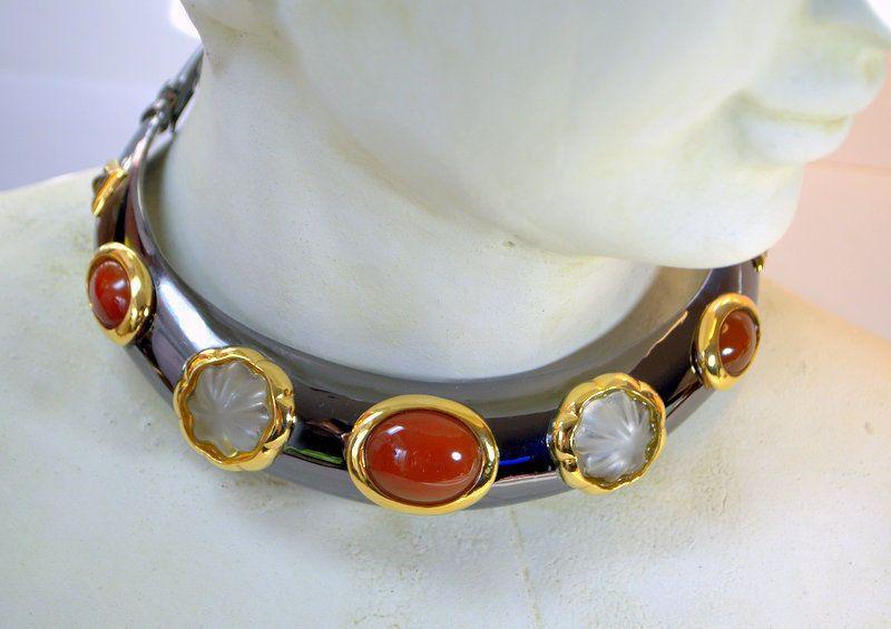 Details about Vintage Signed FRANCESCA ROMANA Haute Couture Crystal