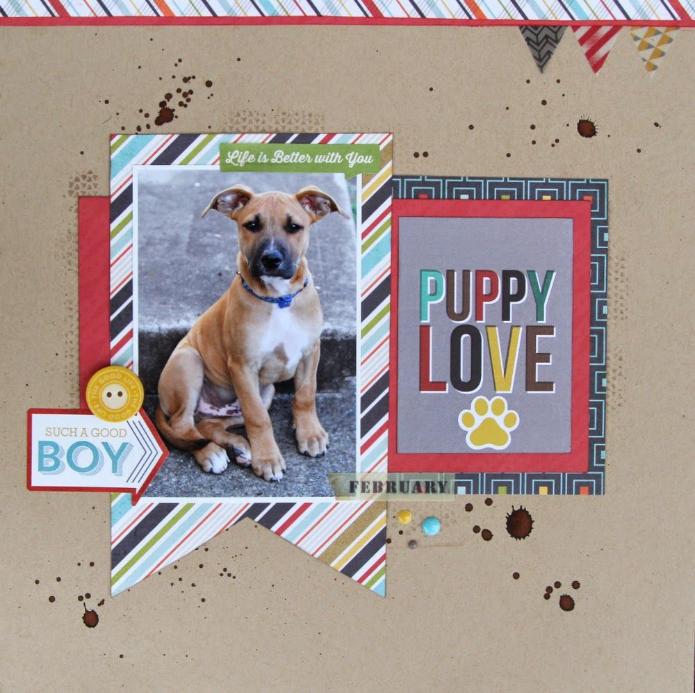Scrapbook ideas for dogs -  Papercrafting Scrapbook Layout All About Scrapbooks Echo Park That S My