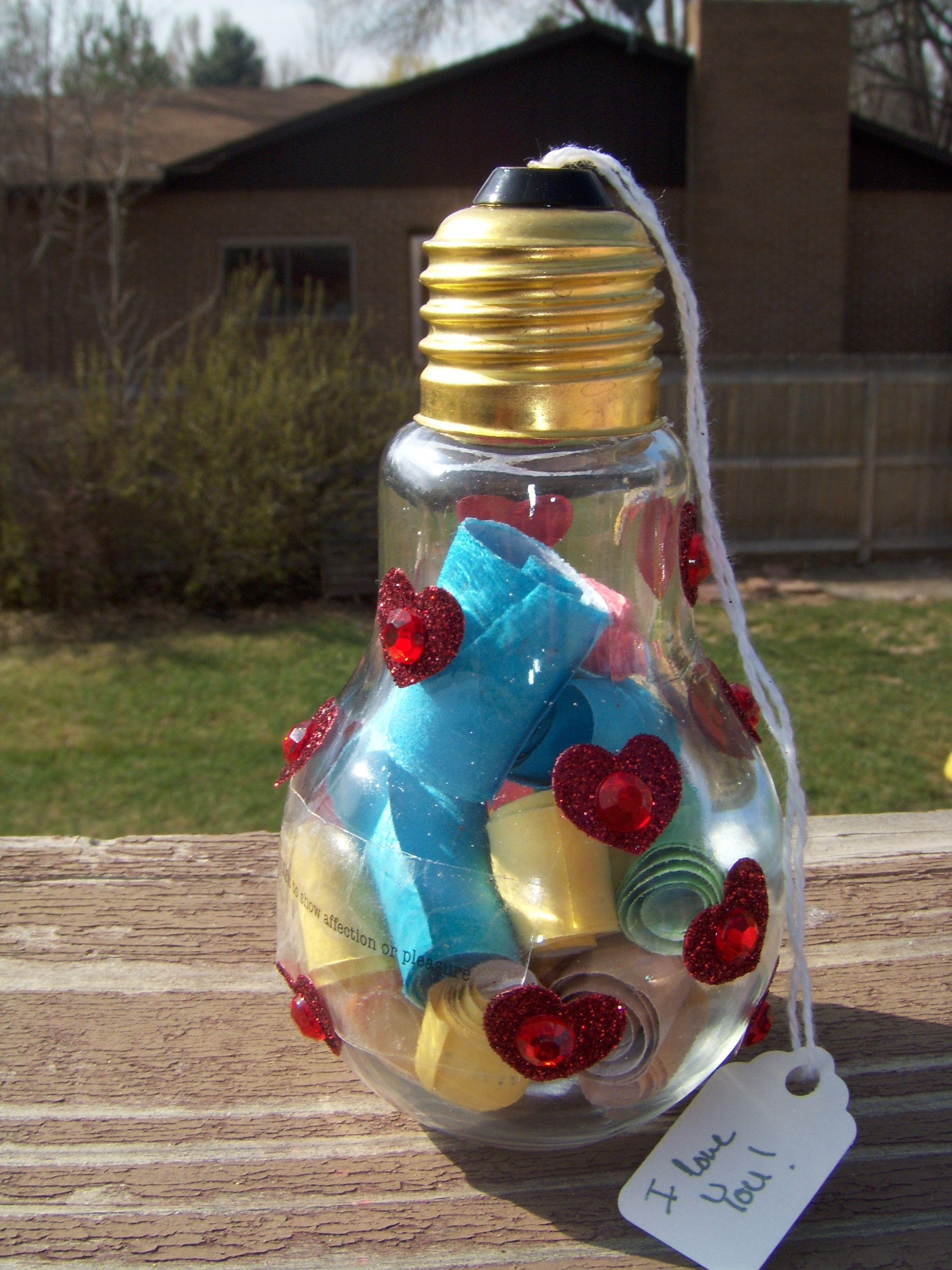 Light Bulb Love Jar Light Bulb Jar Light Bulb Crafts Love Jar