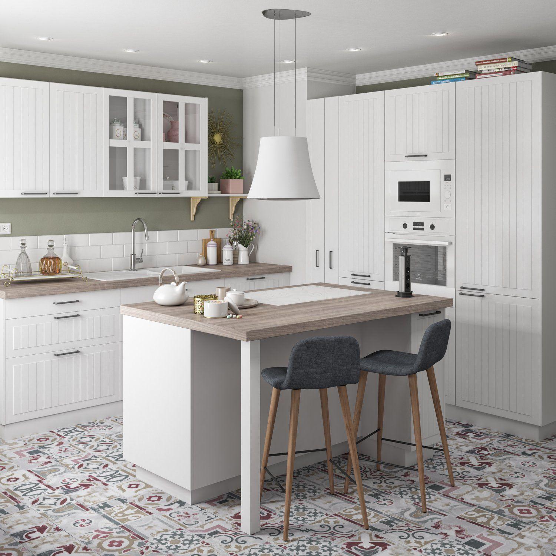 Quel Style Choisir Pour Votre Nouvelle Cuisine Planete Deco A Homes World Ilot Cuisine Cuisine Blanche Et Bois Cuisine Appartement