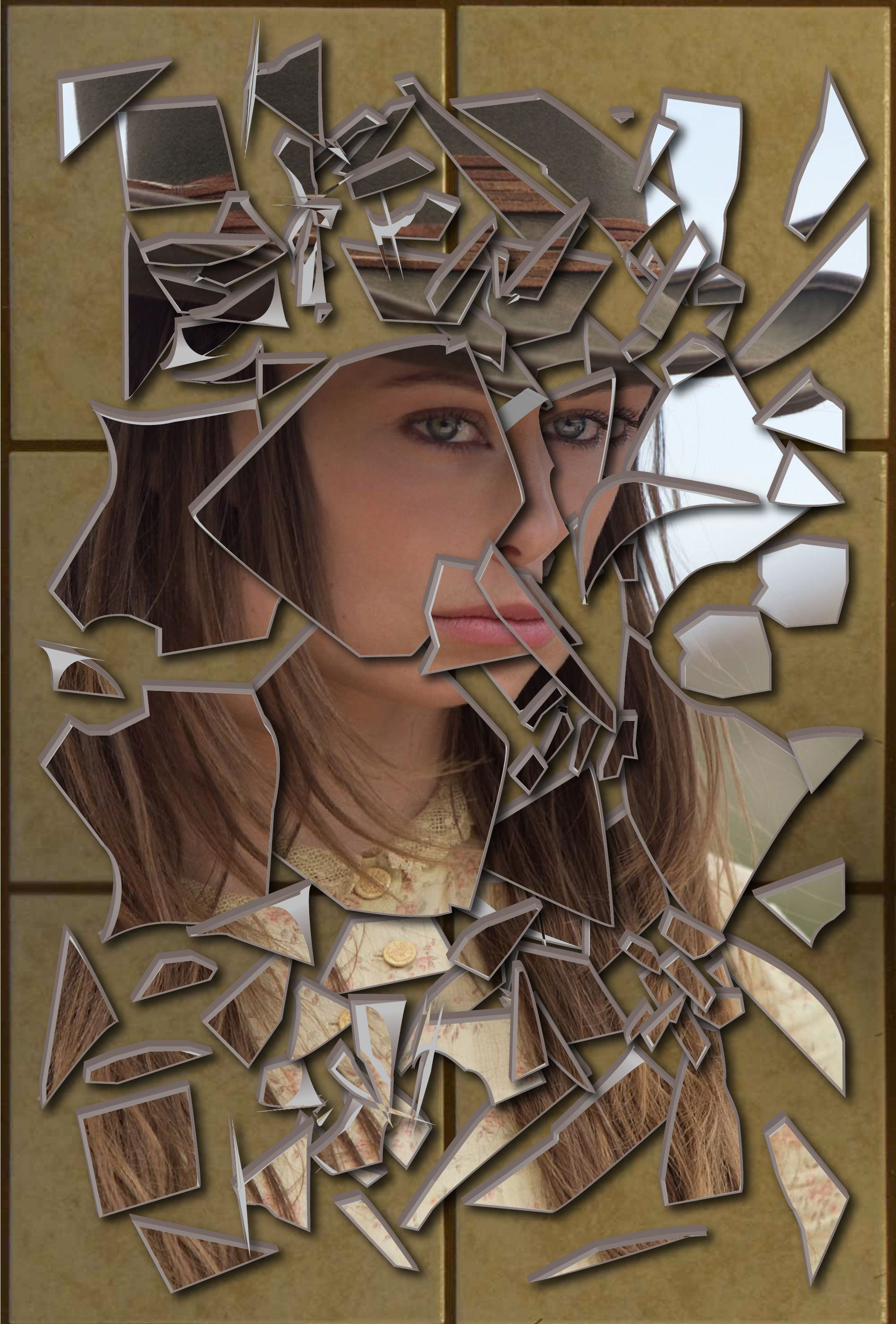 Pix For > Cracked Mirror Effect | Shattered Images | Mirror